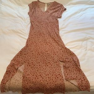 Red Madewell Midi Dress, size 6